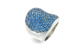 Anello MyMara in argento platinato 925/000